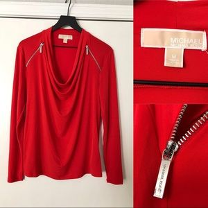 Michael Kors Meduim Long-Sleeve Top